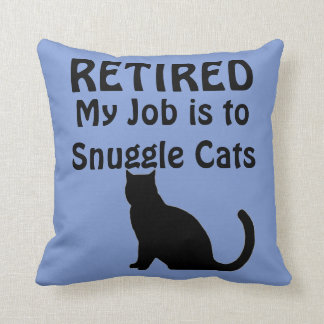 Funny Retirement Cat Lover Cushion