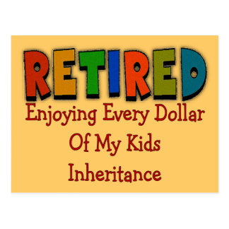 Funny Retirement Gifts Postcard