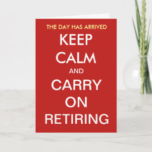 Funny Retirement Joke Quote Slogan Personalisable Card