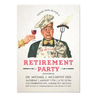 Funny Retirement Party Invitations | Vintage