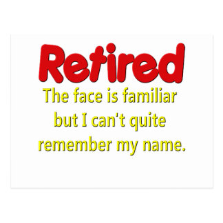 Funny Retirement Saying Postcards