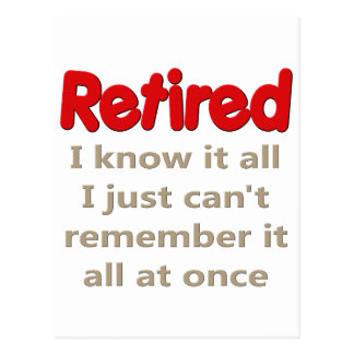 Funny Retirement Saying Post Cards