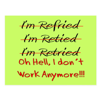 Funny Retirement Shirts and Gifts Postcards