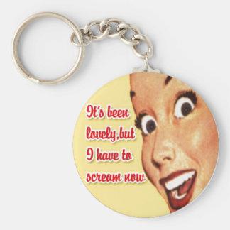 Funny Retro 1950 Happy Housewife Key Chain
