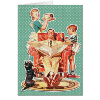 Funny Retro 1950s Father's Day Custom Message Card