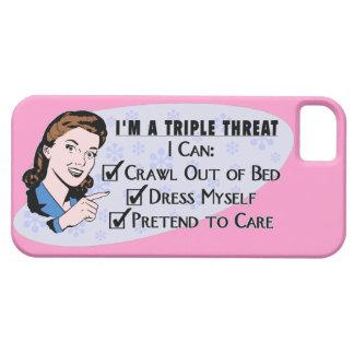 Funny Retro 50's Sarcastic Woman: Triple Threat iPhone 5 Cases