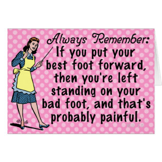 Funny Retro Best Foot Demotivational Card