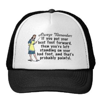 Funny Retro Best Foot Demotivational Trucker Hats