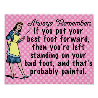 Funny Retro Best Foot Demotivational Posters