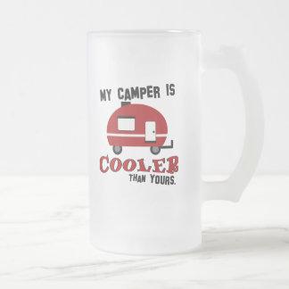 Funny Retro Camper Frosted Beer Mug