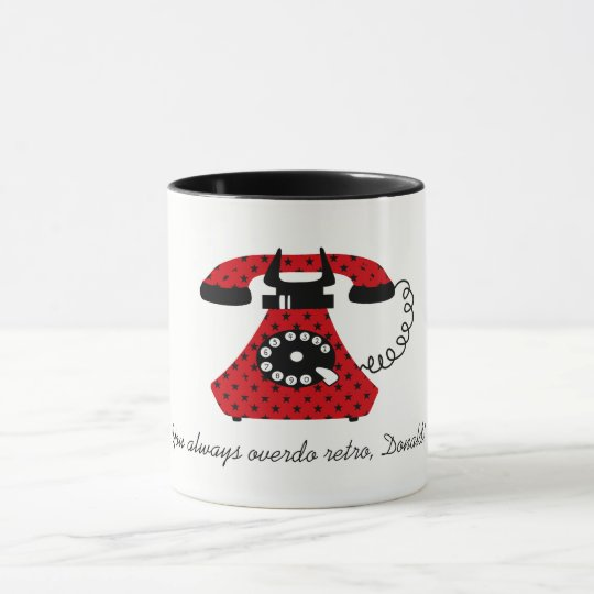 Funny Retro Cartoon Phone Stylish Vintage Unique Mug