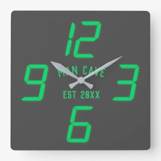 Funny Retro Digital Custom Wall Clock