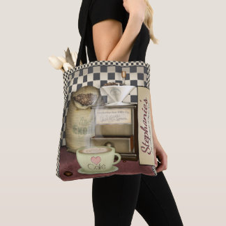 Funny Retro Diner Coffee Shop Café Tote Bag