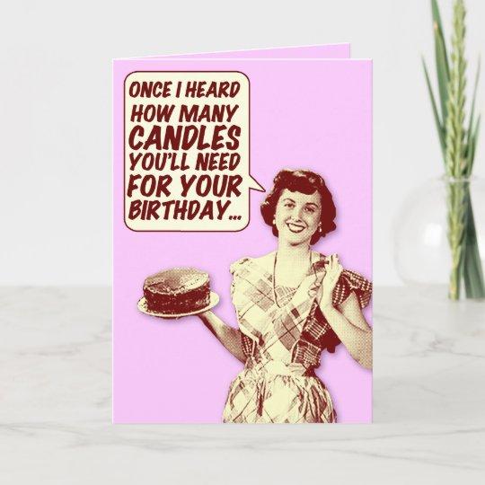 Funny Retro Housewife Birthday Card