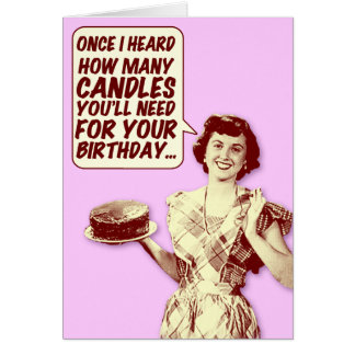 Funny Retro Housewife Birthday Card