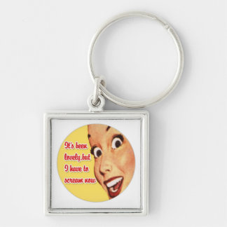 Funny Retro Housewife Premium Keychain 5