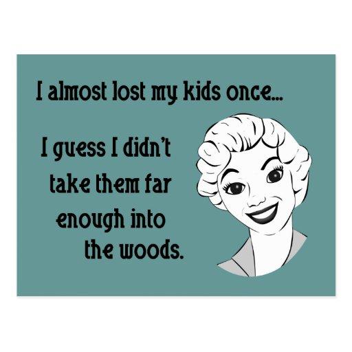 Funny Retro Mom Postcard