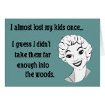 Funny Retro Mum Greeting Card