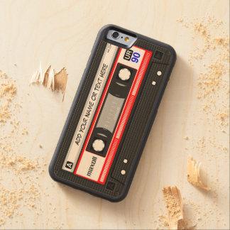 Funny Retro Music Cassette Tape Carved® Maple iPhone 6 Bumper Case