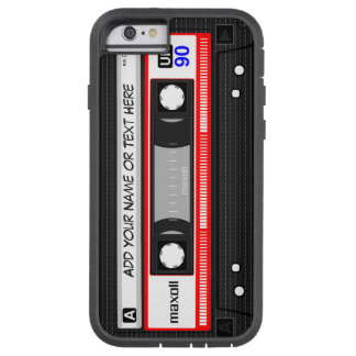 Funny Retro Music Cassette Tape Pattern Tough Xtreme iPhone 6 Case