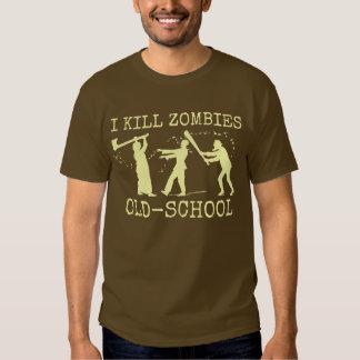 Funny Retro Old School Zombie Killer Hunter T-shirt