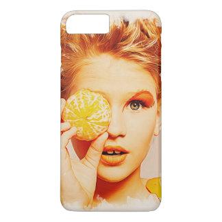 Funny Retro Painting Orange Girl iPhone 7 Plus Case