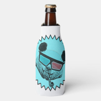 Funny retro panda bottle cooler