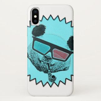 Funny retro panda iPhone x case