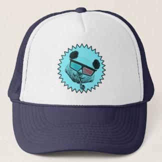Funny retro panda trucker hat