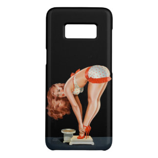 Funny retro pinup girl on a weight scale Case-Mate samsung galaxy s8 case