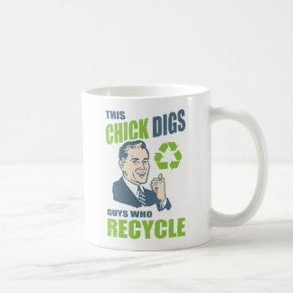 Funny Retro Recycling Slogan Coffee Mug