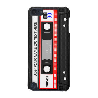 Funny Retro Red Music Cassette Tape Pattern iPod Touch 5G Cases