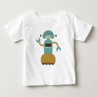 Funny Retro Roller Robot Baby T-Shirt