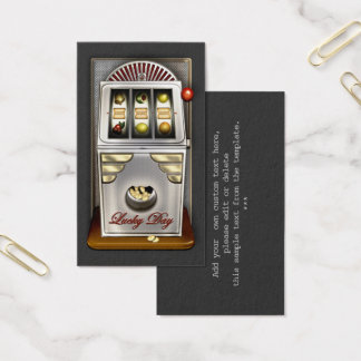 Funny Retro Slot Machine Business Card