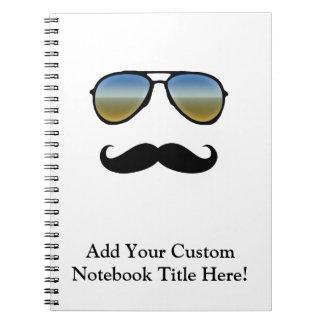 Funny Retro Sunglasses with Moustache Notebooks