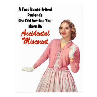 Funny Retro Vintage Bunco Postcard