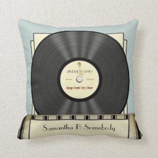 Funny Retro Vintage Classic Vinyl Record Cushion