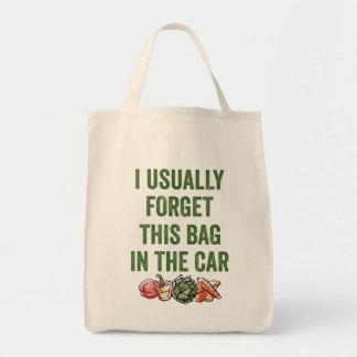 Funny Reusable Grocery Forget Bag Vegetables