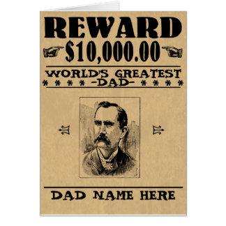 Funny Reward: World's Greatest Dad Old West Card