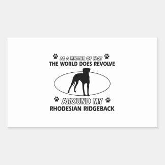 funny RHODESIAN RIDGEBACK designs Rectangular Sticker