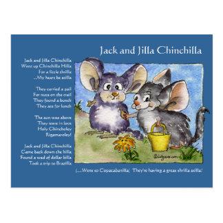Funny Rhymes Chinchilla Love Postcard