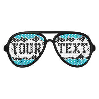 Funny ripped hole custom text party shades