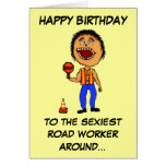 Funny Road Construction Worker Birthday