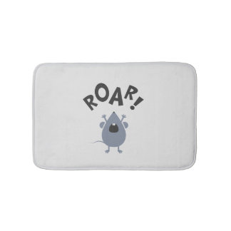 Funny Roar Mouse Design Bath Mat