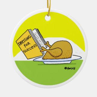 Funny Roast Turkey Custom Christmas Tree Ornament