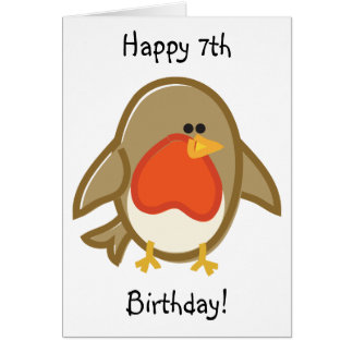 Funny Robin on White Greeting Card