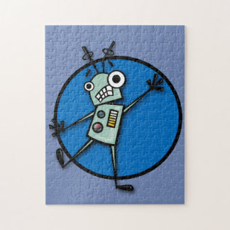 FUNNY ROBOT ILLUSTRATION VERTICAL PUZZLE
