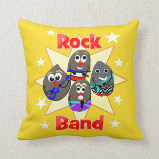 Funny Rock Band Rock Painting Fans Cushion