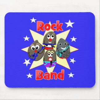 Funny Rock Band Rock Painting Fans Graphic Mouse Pad