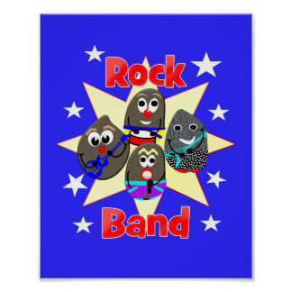 Funny Rock Band Rock Painting Fans Graphic Poster